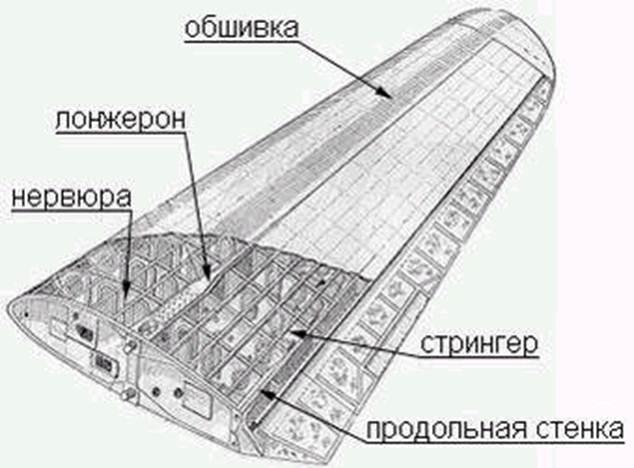 внешнюю поверхность крыла.